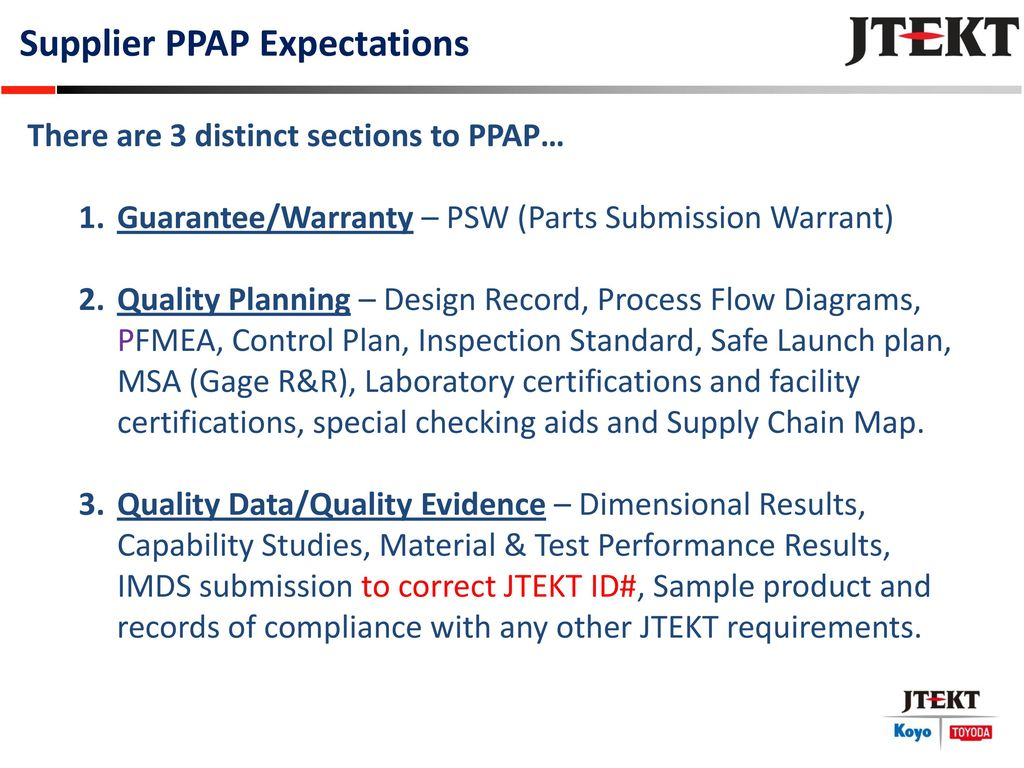 Production Part Approval Process Ppt Download Flow Diagram Quality Control 4 Supplier Ppap Expectations