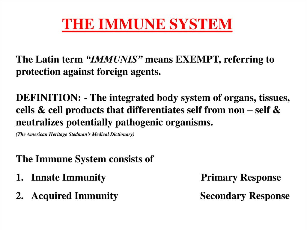 overview: - the immune system - ppt download