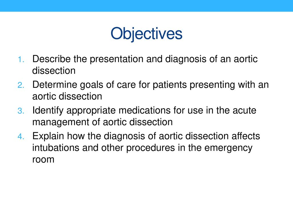 Management of acute Acute aortic dissection in the emergency