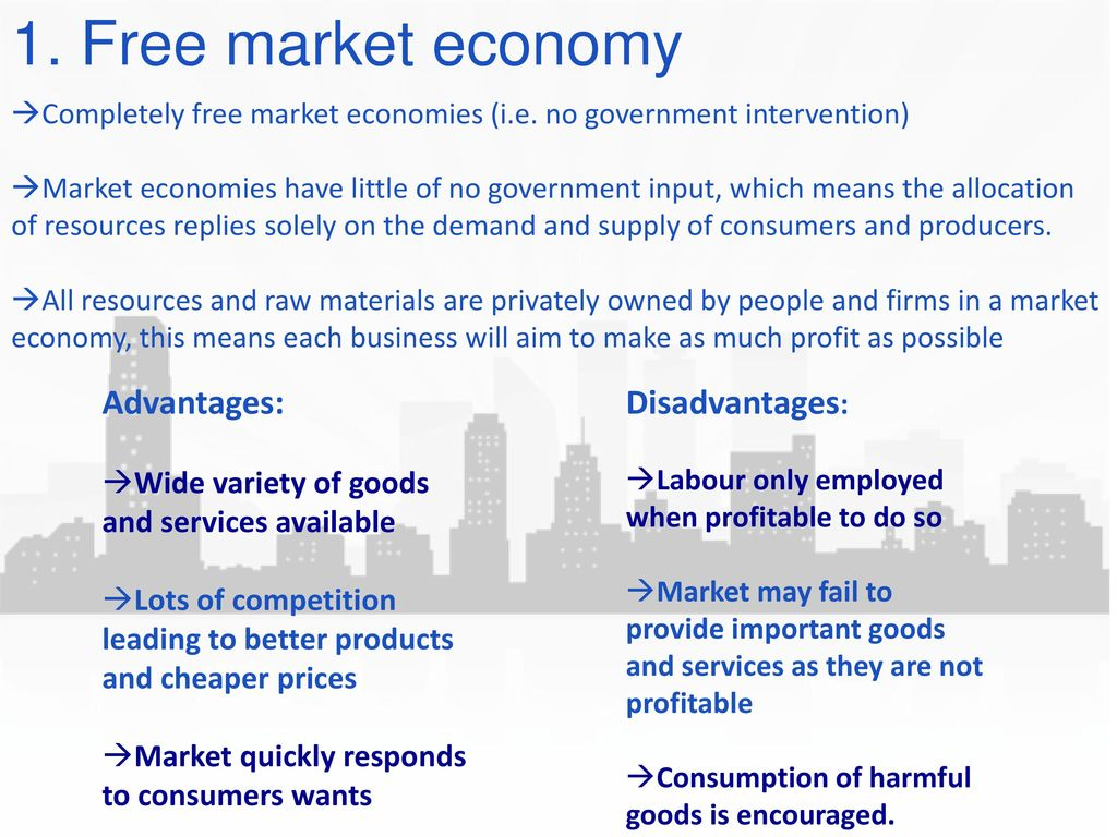 why does a free market economy need government intervention