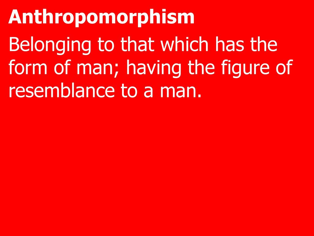 anthropomorphism examples in the bible