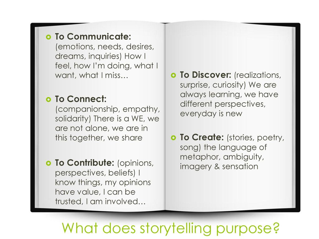 The Value of Storytelling - ppt download