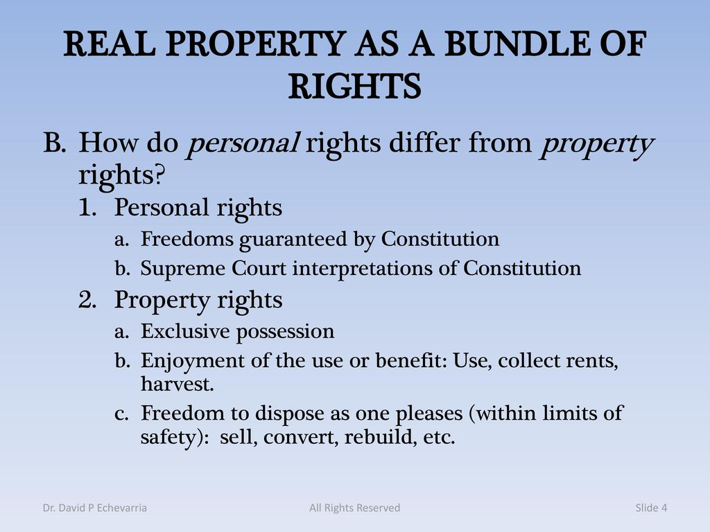 real and personal rights