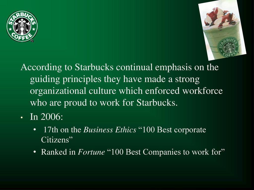 starbucks ethics