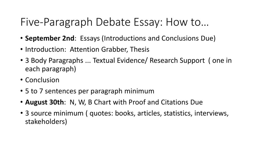 Essay Paper Writing Fiveparagraph Debate Essay How To Write My Essay Paper also How To Write A High School Essay Fiveparagraph Debate Essay How To  Ppt Download High School Essay Topics