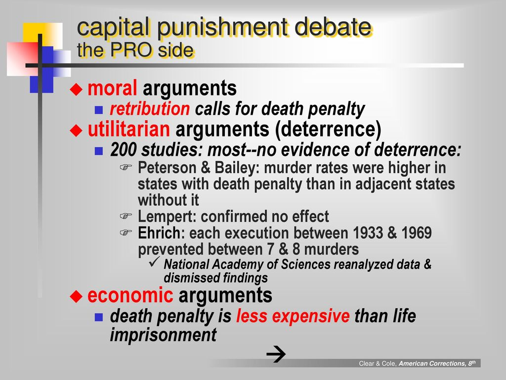 utilitarian view on capital punishment