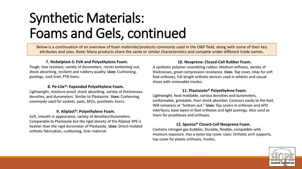 931993af41 Materials for Orthotic and Prosthetic Applications - ppt download