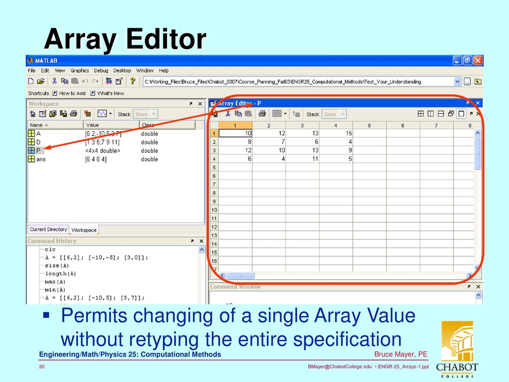 Chp2 MATLAB Arrays: Part-1 - ppt download