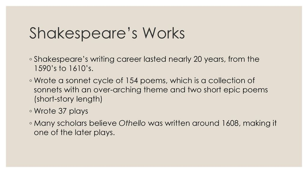 on what play do many scholars believe othello is based