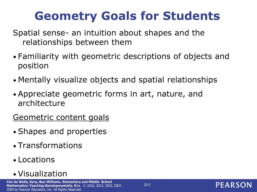 CHAPTER 20 Geometric Thinking and Geometric Concepts - ppt