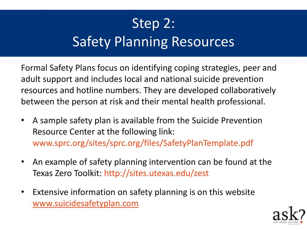Mental Health Safety Plan Examples Www Topsimages Com