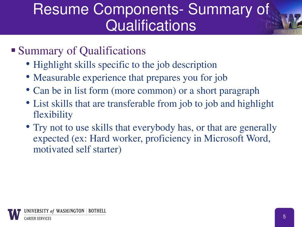 resume list of skills