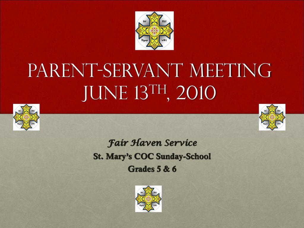 Themes of parental meetings (Grade 5)