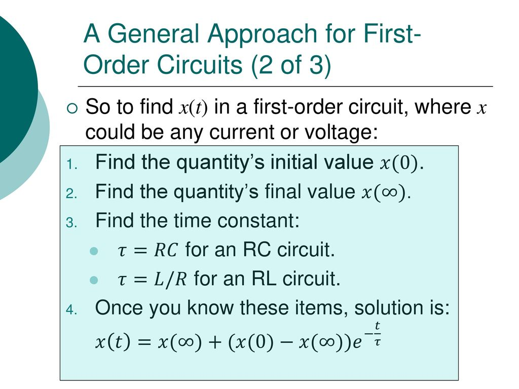 Egr 2201 Unit 9 First Order Circuits Ppt Download The Time Constant Of An Rc Circuit 73 A