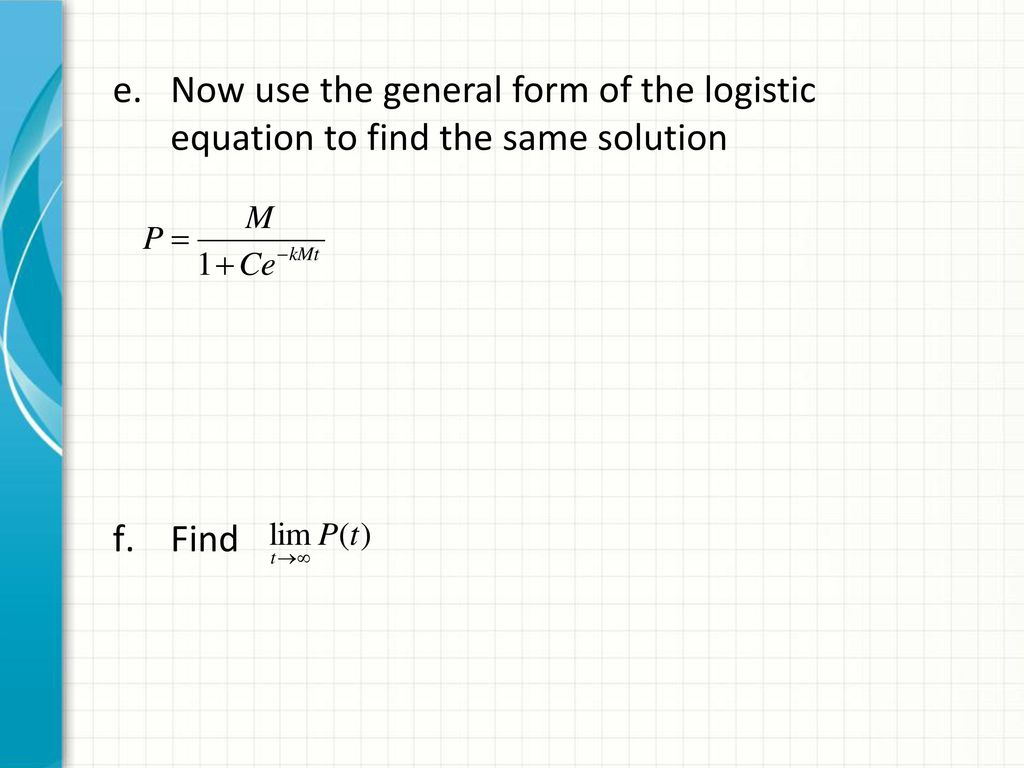 logistic equations sect ppt download