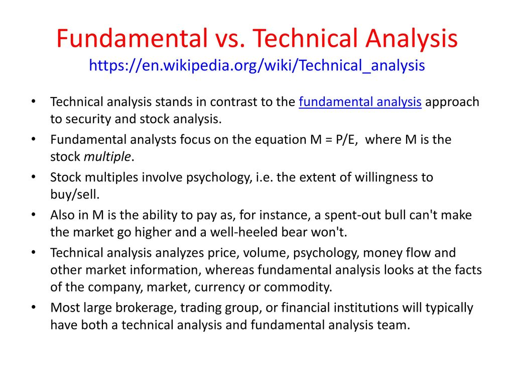 Technical Analysis and Trading John Rundle Econophysics PHYS
