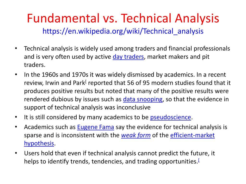 Technical Analysis and Trading John Rundle Econophysics PHYS