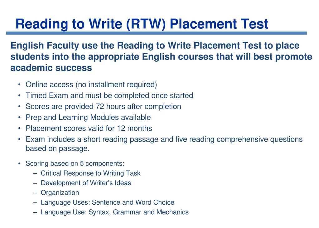 Howto Compose a for a Faculty Placement Exam