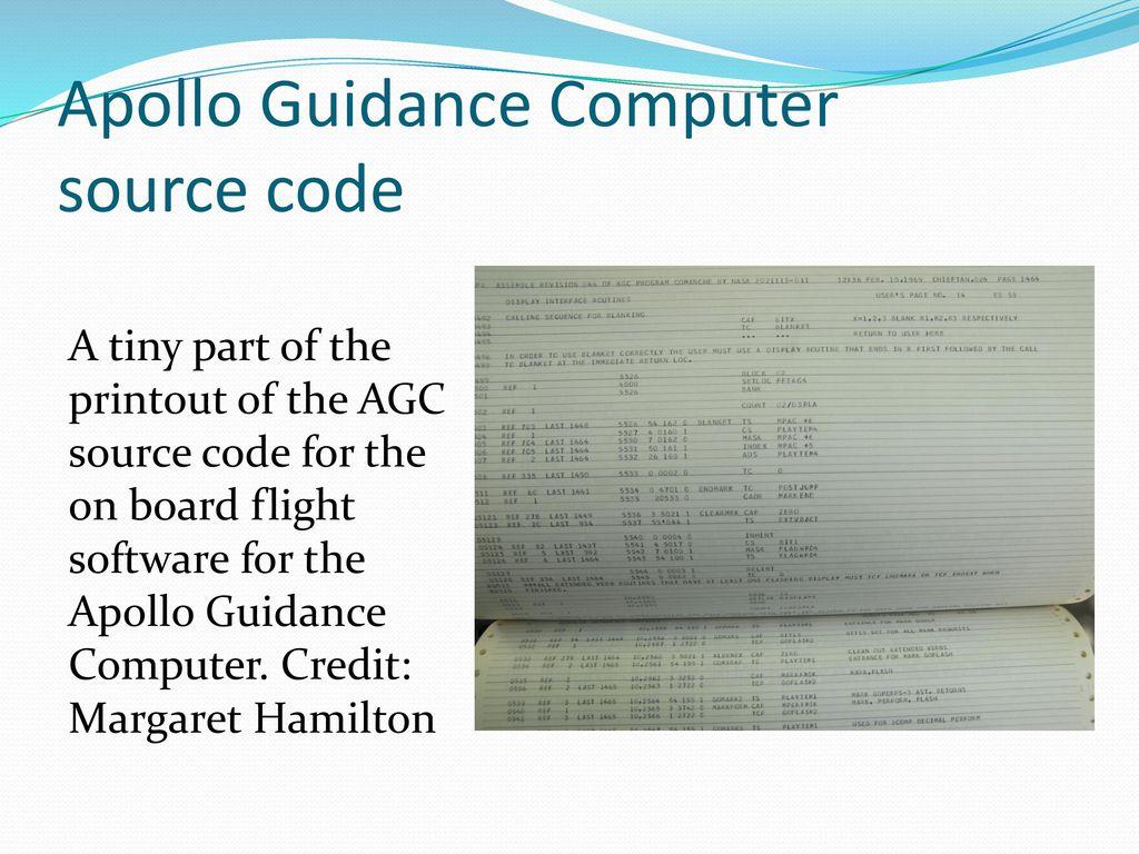 Margaret Hamilton Software Engineer Pioneer Director Of The Apollo Guidance Computer Source Code