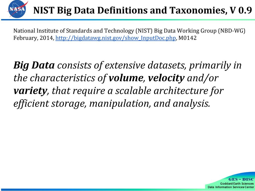 Earth Science Data Analytics Cluster - ppt download