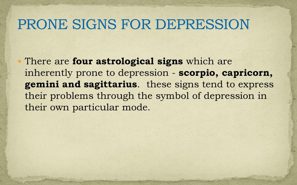 Medical Astrology For Diagnosing And Treating Depression Ppt Download