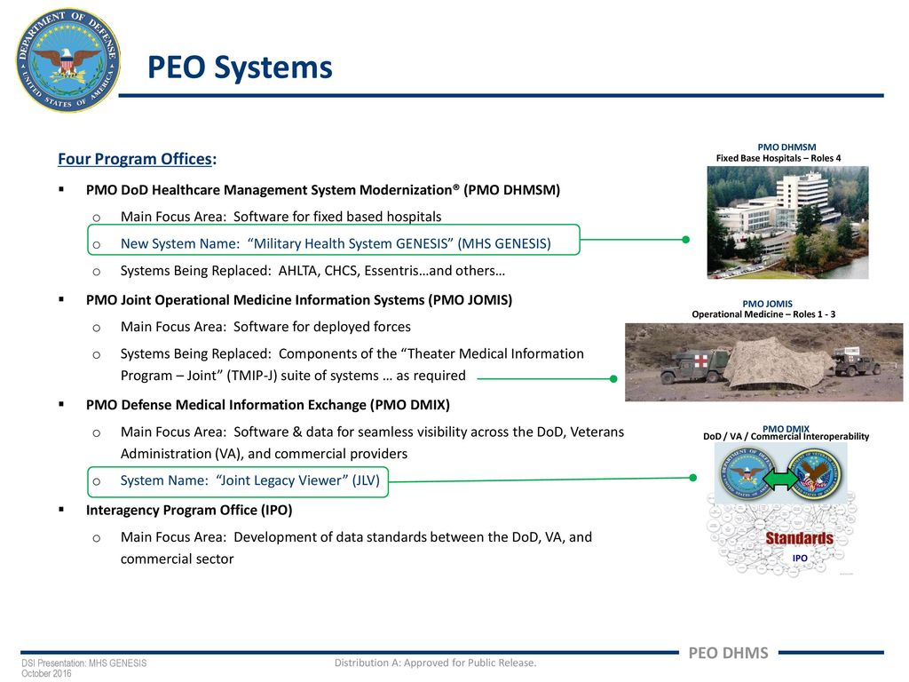 MHS GENESIS: The DoD's Modern Electronic Health Record - ppt