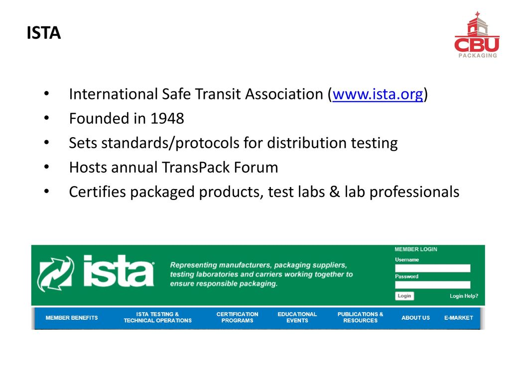 Ista Lab People And Packaged Product Certifications Ppt Download