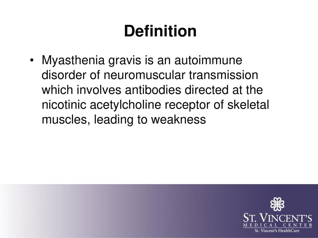 myasthenia gravis 2015 update - ppt download