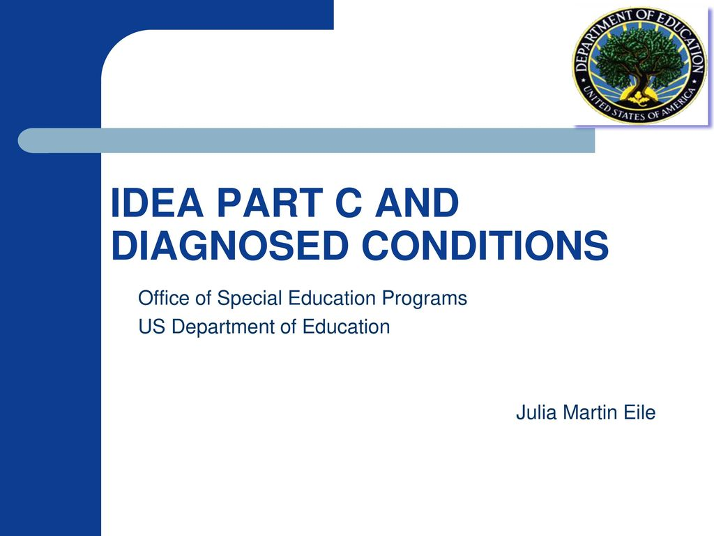 Use of Diagnosed Conditions for IDEA Part C Early