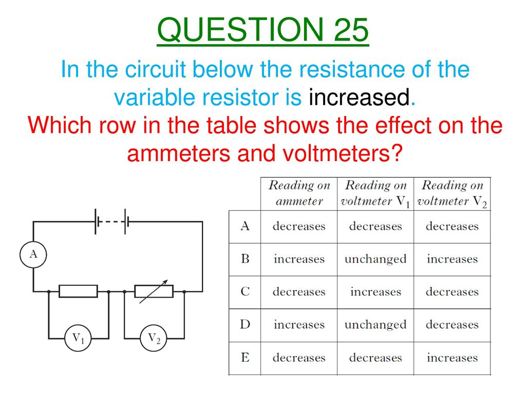 Nat 5 Electricity And Energy Ppt Download Variable Resistor Circuit Question 25 In The Below Resistance Of Is Increased