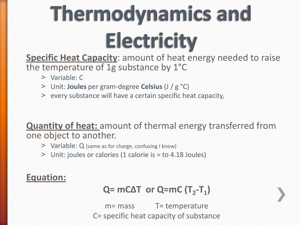 Current Power Dissipation Ohms Law And Equivalent Resistance Electrical Formula Basic Electric Quantities Formulas Thermodynamics Electricity