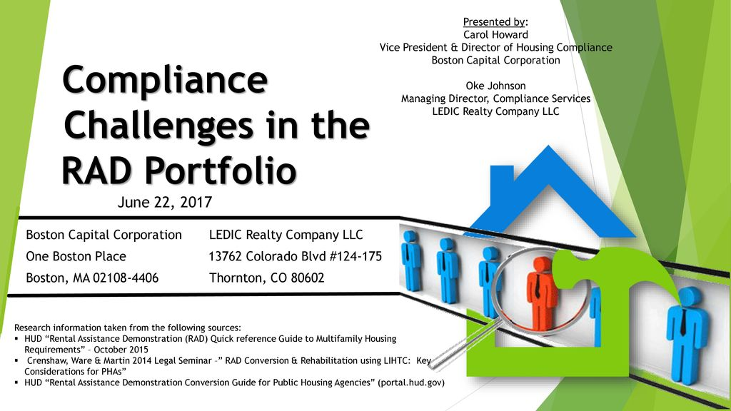 Compliance Challenges in the RAD Portfolio June 22, ppt download
