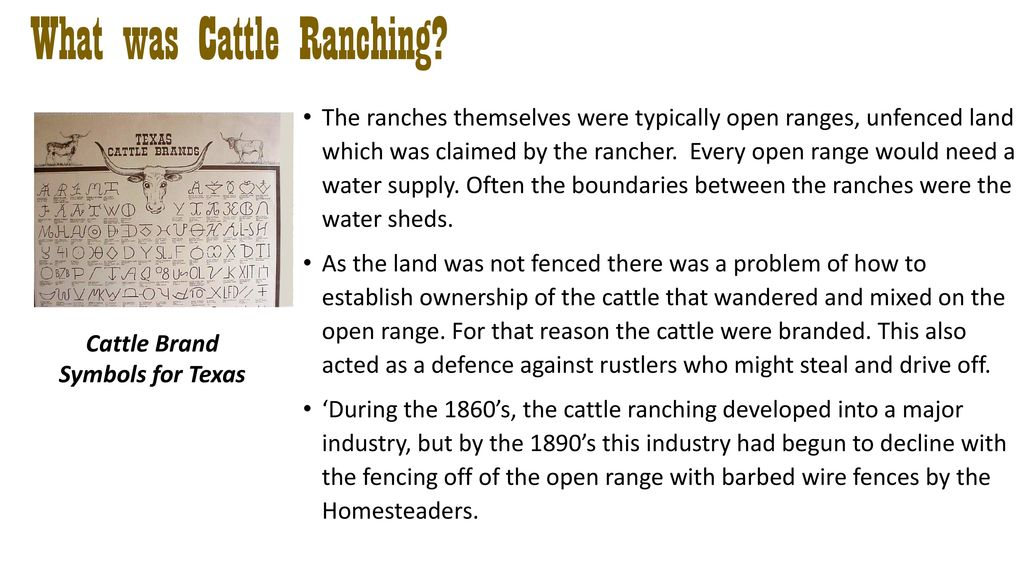 Why Did Cattle Ranching Develop Then Decline Ppt Download