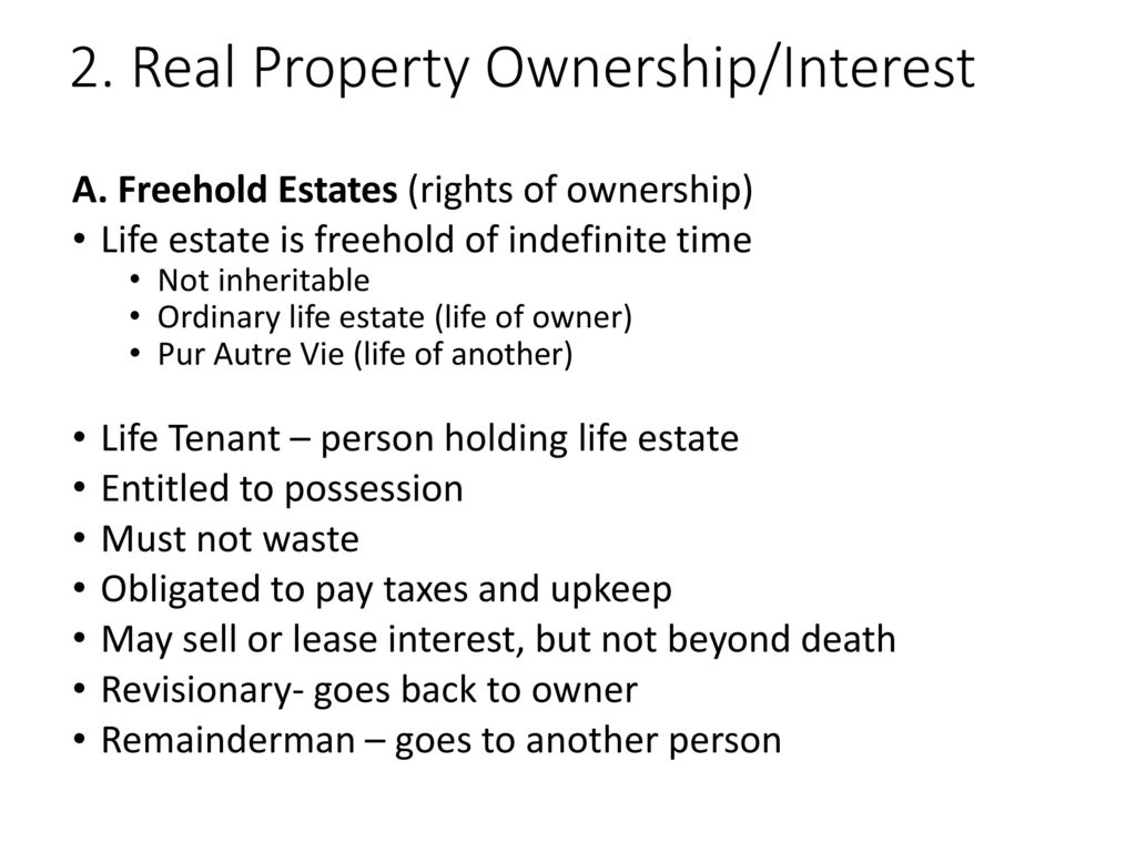 Alabama Real Estate Exam Property Ownership Interest Ppt Download