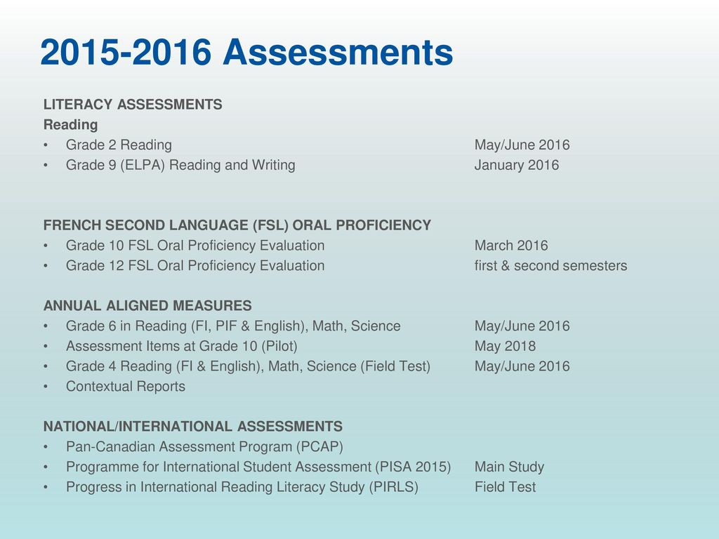 Assessment Results ASD-S - ppt download