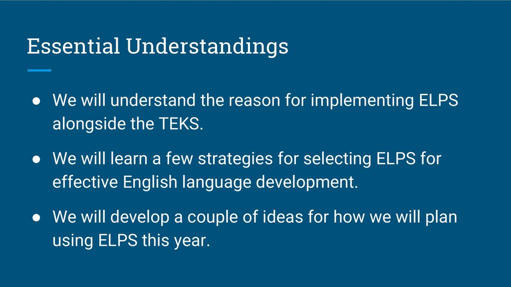 ELL Focus Strategies Overview Ppt Download