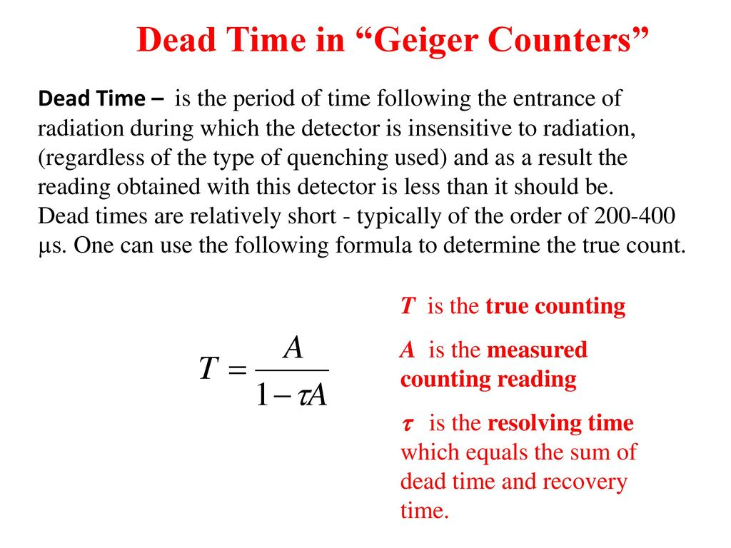 Pcs352 Lab 1 Characteristics Of A Geiger Counter Ppt Download Wiring Diagram Dead Time In Counters
