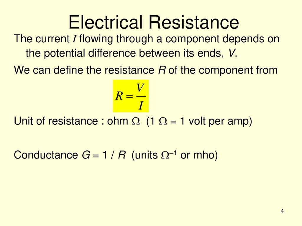 Topic 6 Electric Current And Resistance Ppt Download Is Electricity Electrical Definitions Definition Of Amps 4