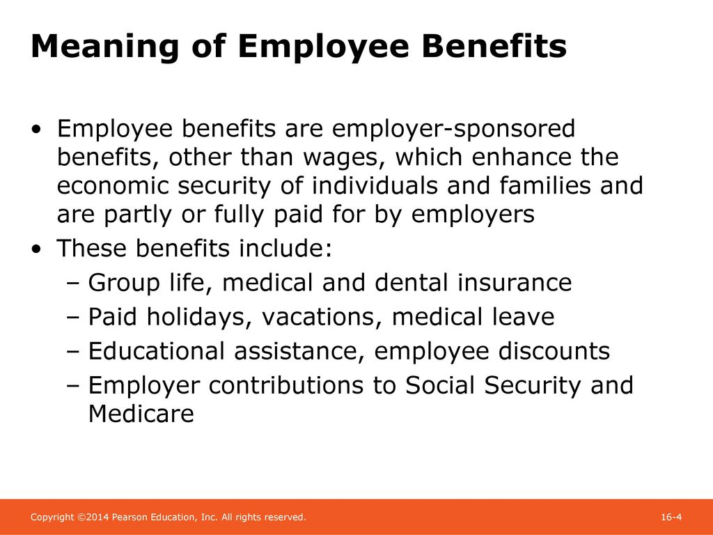 chapter 16 employee benefits: group life and health insurance - ppt