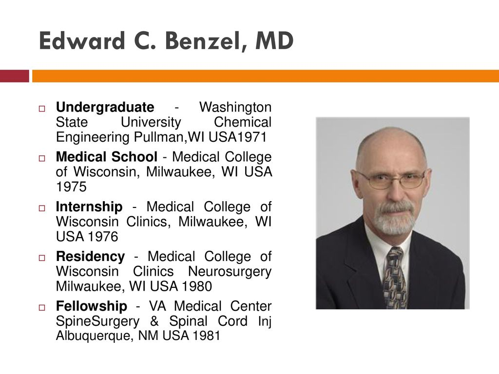 Edward C  Benzel, MD Undergraduate - Washington State