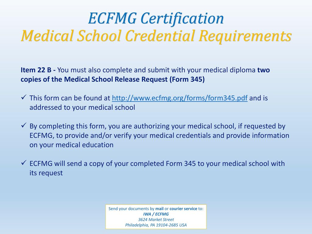 ECFMG Certification Step by Step Guide  - ppt download