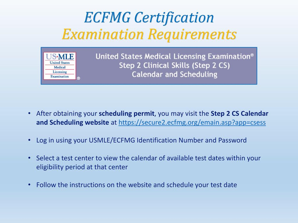 ecfmg certification step by step guide. - ppt download