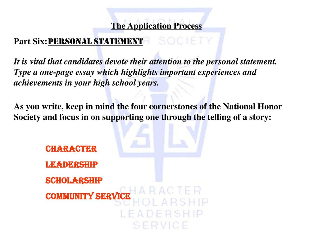 national honor society application letter