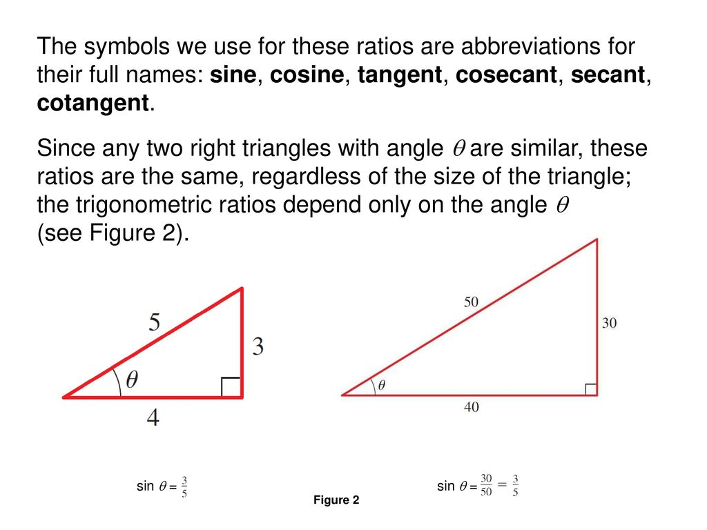 Trigonometry Of Right Triangles Ppt Download