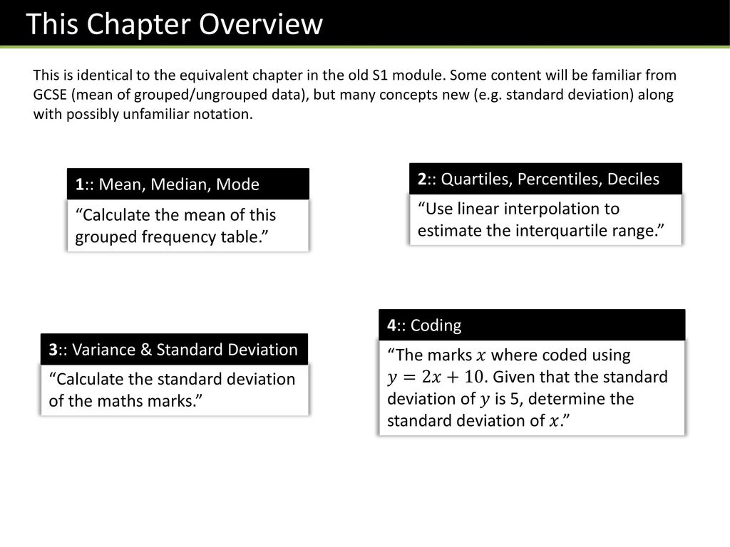 Stats1 Chapter 2 :: Measures of Location & Spread - ppt download