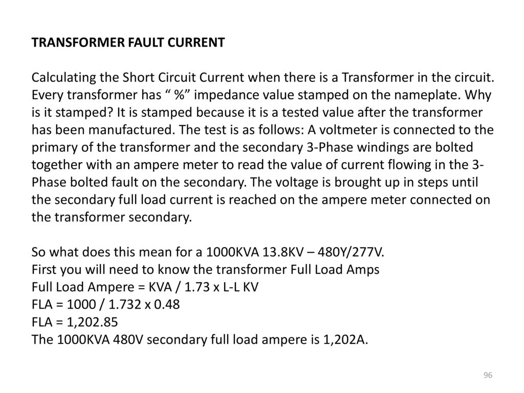 Ch 6,7: Faults and Fault Calculations - ppt download