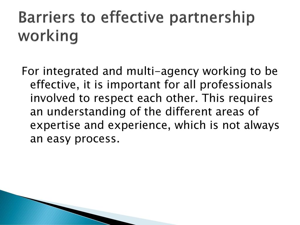 barriers to multi agency working