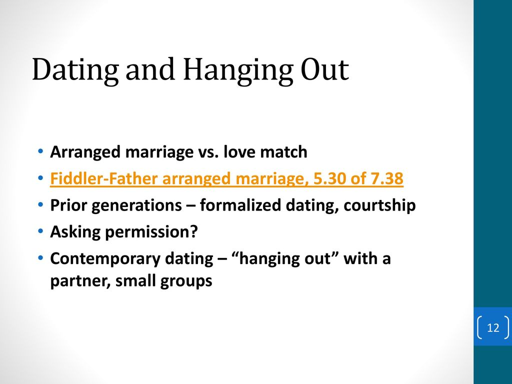 Dating hanging out