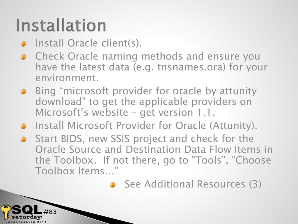 Get your Oracle data into SQL Server faster! - ppt video online download