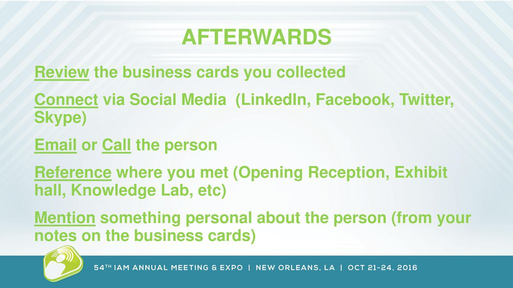 Network like a pro empire ballroom cd 500pm network like a pro afterwards review the business cards you collected reheart Choice Image